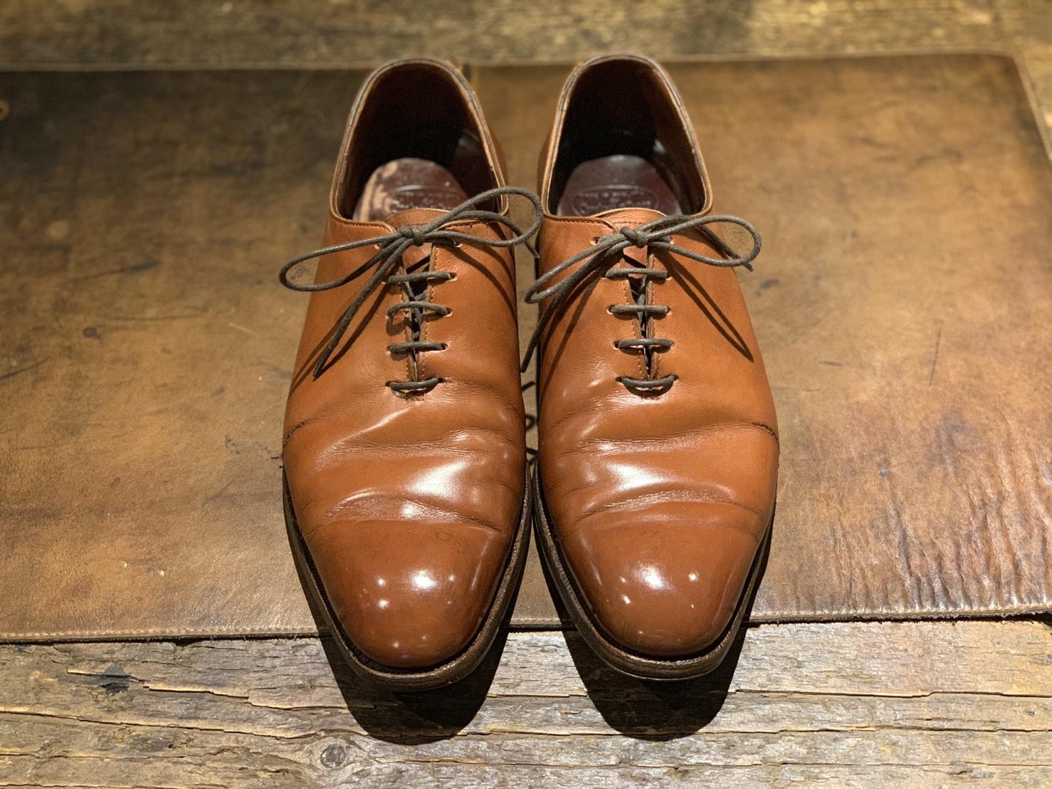 福岡 靴磨き Crockett&Jones
